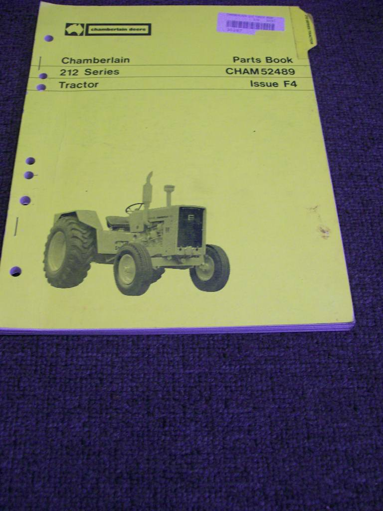 CHAMBERLAIN 212 TRACTOR ORIGINAL ILLUSTRATED PARTS CATALOG